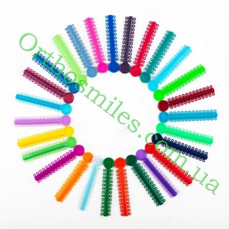Набір лігатур кольорових пронумеровані по 1шт (43 кольорів) фото 1 — OrthoSmiles