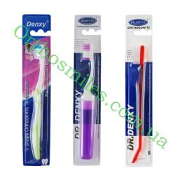Зубная щетка ортодонтическая с ершиком
