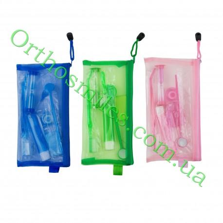 Гигиенический набор для пациента в пенале-сетка фото 1 — OrthoSmiles
