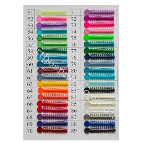 Набор лигатур цветных пронумерованых по 1шт (43 цветов) фото 1 — OrthoSmiles