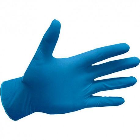 Перчатки медицинские смотровые нитриловые нестерильные DOMAN голубой фото 1 — OrthoSmiles